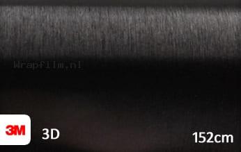 3M 1080 BR212 Brushed Black Metallic wrap film