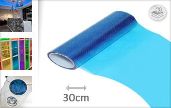 Blauw doorzichtig wrap film