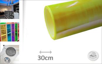 Flipflop geel doorzichtig wrap film