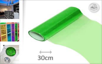 Groen doorzichtig wrap film
