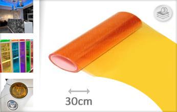 Oranje doorzichtig wrap film