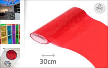 Rood doorzichtig wrap film
