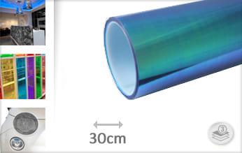 Flipflop blauw transparant wrap film