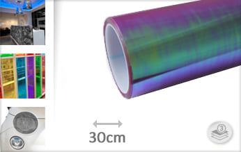 Flipflop paars transparant wrap film