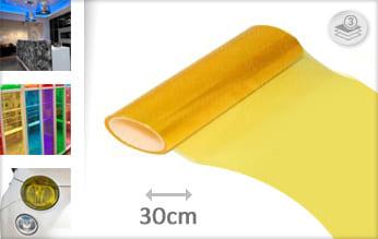 Geel transparant wrap film