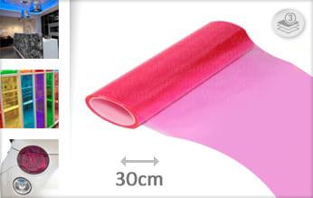 Roze transparant wrap film