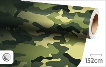 Camouflage oerwoud wrap film