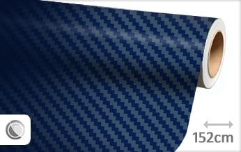 Donkerblauw 3D carbon wrap film