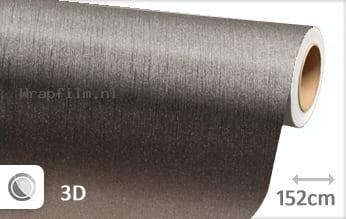 Geborsteld aluminium antraciet wrap film