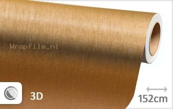 Geborsteld aluminium goud wrap film