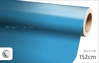 Glans babyblauw wrap film