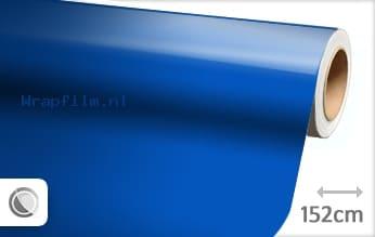 Glans blauw wrap film