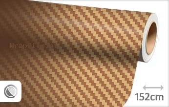 Goud 3D carbon wrap film