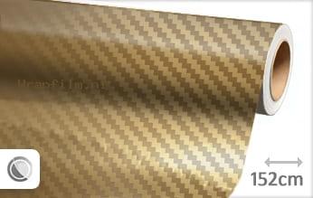 Goud chroom 3D carbon wrap film