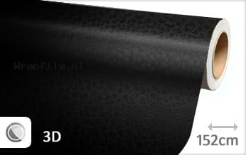 Leder look zwart wrap film