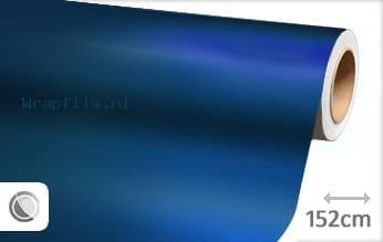 Mat chroom blauw wrap film