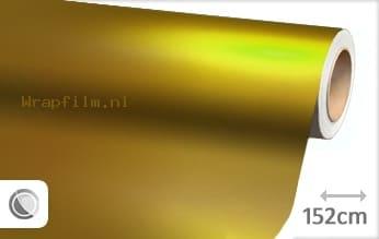 Mat chroom geel wrap film