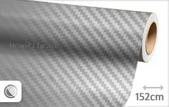 Zilver chroom 3D carbon wrap film