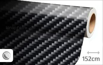 Zwart 2D carbon wrap film