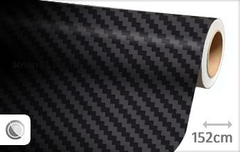 Zwart 3D carbon groot wrap film